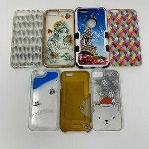 Set of 7 iPhone cases